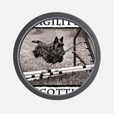 Jump - Agility Scottie Dog Wall Clock