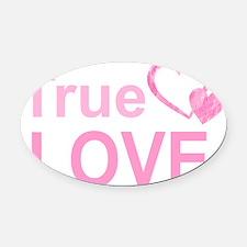 True Love Oval Car Magnet