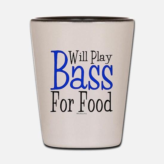 Will Play Bass Shot Glass