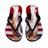 American bulldog Flip Flops