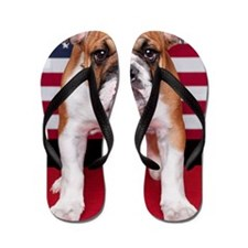 All American Bulldog Flip Flops