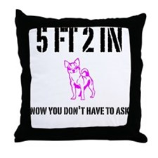 Short Girl Throw Pillow
