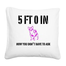 Funny Short Girl Square Canvas Pillow