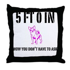 Funny Short Girl Throw Pillow