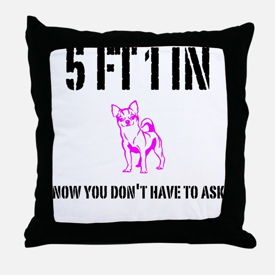 Short Girl Funny Throw Pillow
