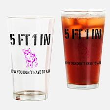 Short Girl Funny Drinking Glass