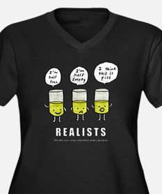 Realist and  Women's Plus Size Dark V-Neck T-Shirt
