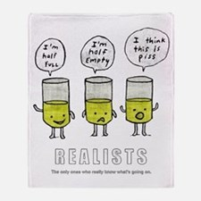 Realist and the two idiots Throw Blanket