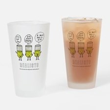Realist and the two idiots Drinking Glass