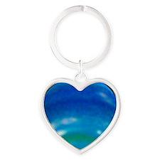Neptune's changing seasons Heart Keychain