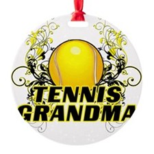 Tennis Grandma (cross) Ornament