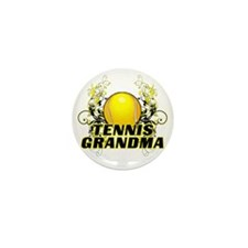 Tennis Grandma (cross) Mini Button