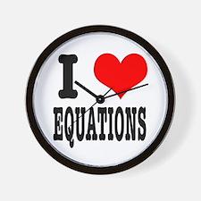I Heart (Love) Equations Wall Clock