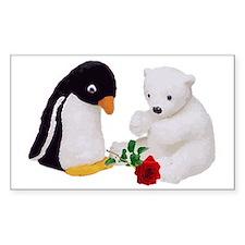 Penguin Polar Bear Rose Decal