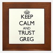 Keep Calm and TRUST Greg Framed Tile