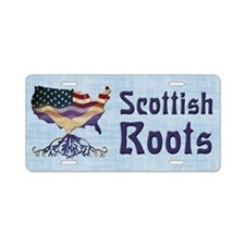 American Scottish Roots Aluminum License Plate
