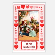Regency couple, Be my Val Postcards (Package of 8)