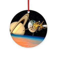 Computer artwork of Cassini spacecr Round Ornament