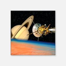 """Computer artwork of Cassini Square Sticker 3"""" x 3"""""""