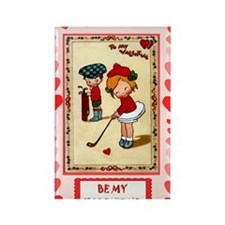 Valentine on the golf course Rectangle Magnet