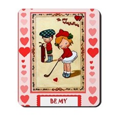 Valentine on the golf course Mousepad