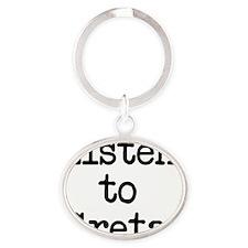 Listen to Greta Oval Keychain