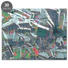 Sucrose crystals, SEM Puzzle