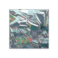 "Sucrose crystals, SEM Square Sticker 3"" x 3"""