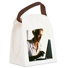 Laptop computing Canvas Lunch Bag