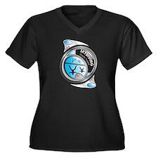 Unique Skydive Women's Plus Size V-Neck Dark T-Shirt