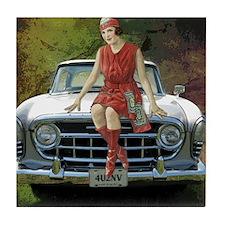 1957 Rambler Automobile Tile Coaster