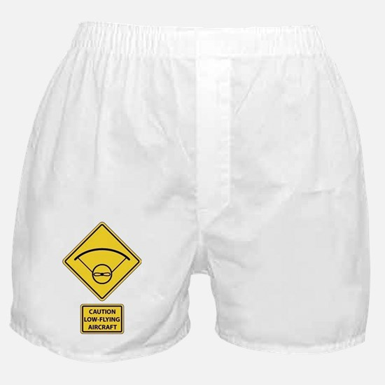 Caution Low Flying Aircraft Boxer Shorts