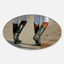 Riding Boots-5x7 Sticker (Oval)