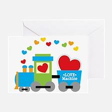 Valentine Train Greeting Card
