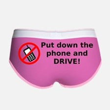Put down the phone and DRIVE! Women's Boy Brief