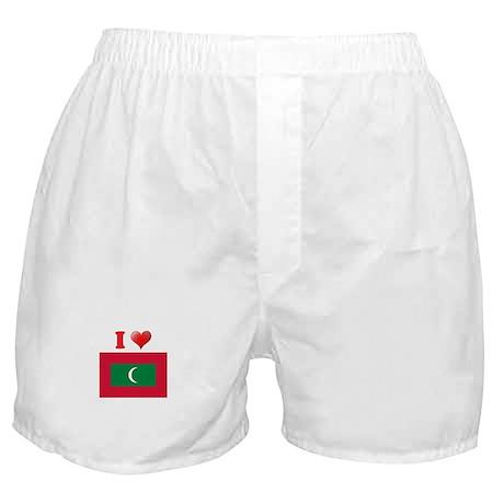 I love Maldives Flag Boxer Shorts