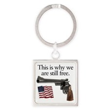 Guns keep our freedom Square Keychain