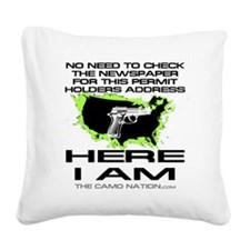 Here I Am Value T Square Canvas Pillow