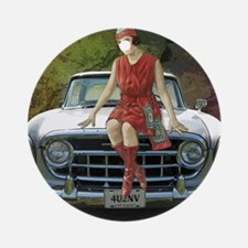 Vintage Pin Up Round Ornament