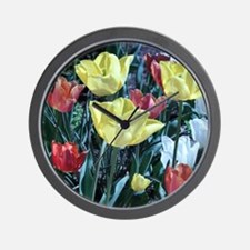 Red_And_Yellow_Flowers Wall Clock