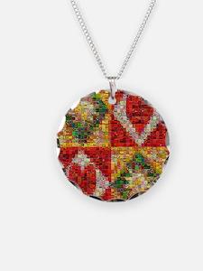 Heart Patchwork Love Quilt Necklace