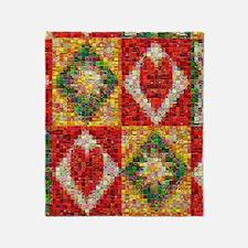 Heart Patchwork Love Quilt Throw Blanket