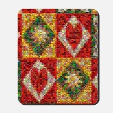 Heart Patchwork Love Quilt Mousepad