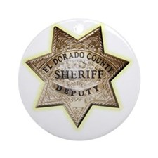 El Dorado County Sheriff Round Ornament