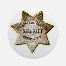 El Dorado County Sheriff Round Ornament