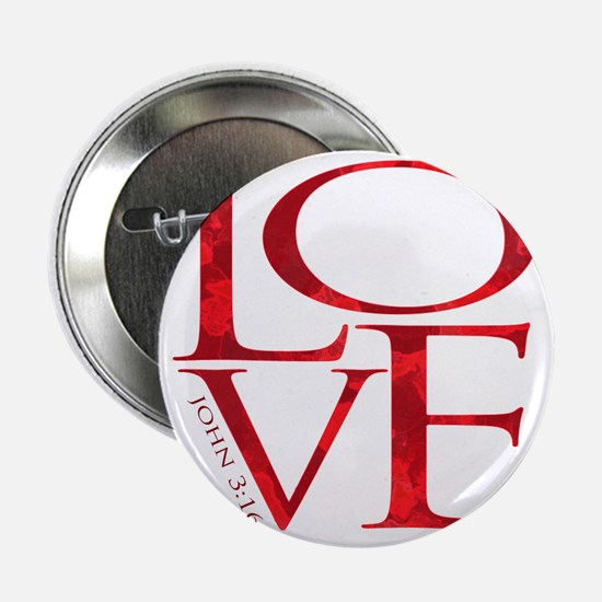 "Love - John 3:16 2.25"" Button"