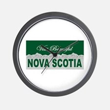 Visit Beautiful Nova Scotia Wall Clock