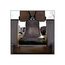 """Liberty_Bell_Replica Square Sticker 3"""" x 3"""""""