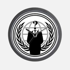 Anonymous Logo Wall Clock
