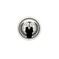 Anonymous Logo Mini Button